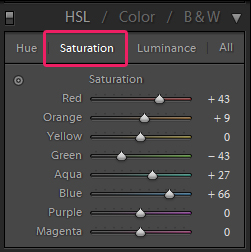 Saturation Menu